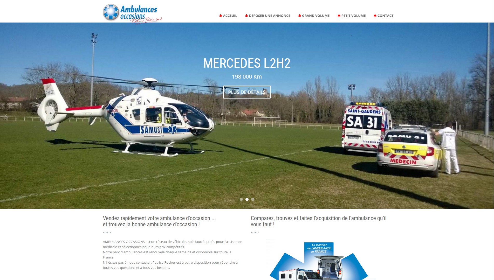 Ambulances Occasions - Refonte du site